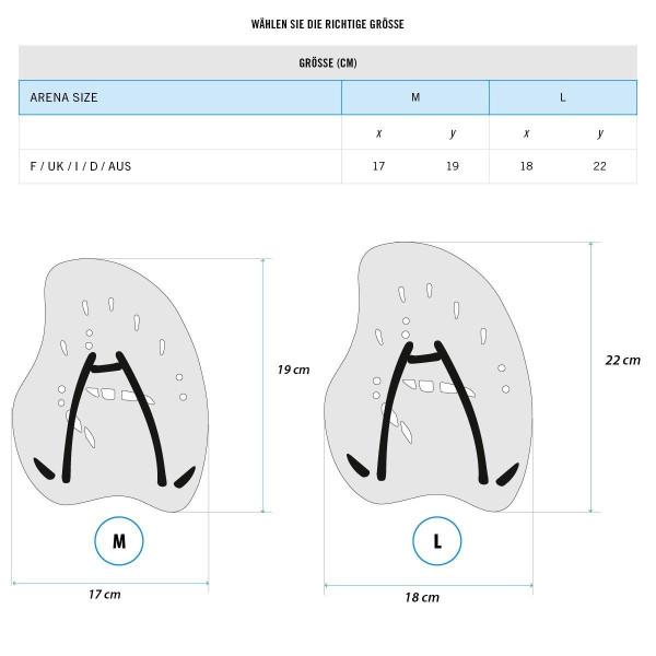 arena Unisex Trainingshilfe Hand Paddle Vortex