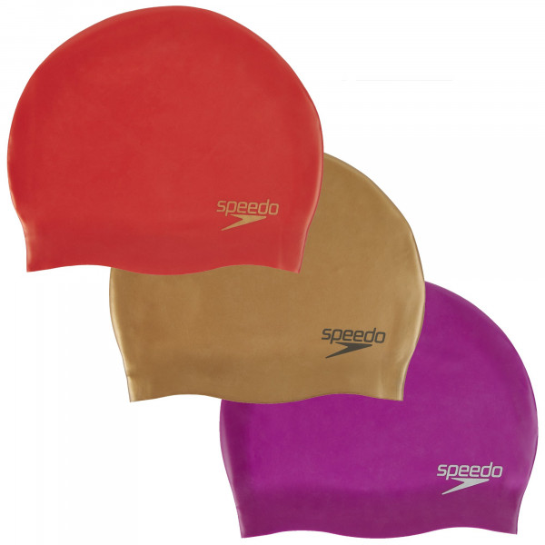 Speedo Plain Moulded Silicone Cap Damen